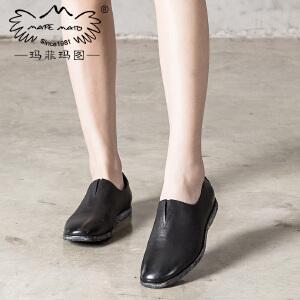 玛菲玛图单鞋女2017春新款文艺手工复古森女休闲鞋1703-10Y