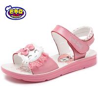 16.5cm~23.5cm巴布豆女童鞋 女童凉鞋2016新款夏季学生凉鞋真皮公主鞋女孩凉鞋