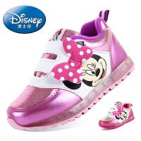 迪士尼儿童鞋2016春季新款米奇米妮男童鞋女童鞋儿童运动鞋灯鞋