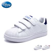 迪士尼童鞋17年夏季新品儿童板鞋宝宝防滑魔术贴三杠滑板鞋贝壳鞋DS2266