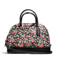 【当当自营】蔻驰(COACH)新款女士印花花卉涂层帆布大号贝壳包手提斜挎女包 F57622