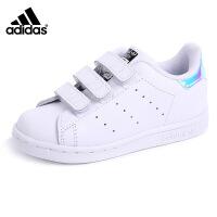 adidas/阿迪达斯童鞋2016夏季新款三叶草大小童女款休闲鞋运动鞋小白鞋学生板鞋 AQ6274