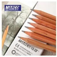 马可7001马可原木素描绘画绘图铅笔 马可铅笔3H 2H H HB B 2B 3B 4B 5B 6B 7B 8B 9B