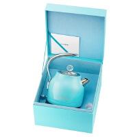 北鼎Buydeem K206电水壶 彩色304不锈钢水钻煲水晶壶 皎月风信蓝 礼盒装