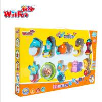 英纷WinFun益智玩具儿童婴儿手摇铃玩具宝宝婴幼儿早教玩具0-1岁10只摇铃3081-N
