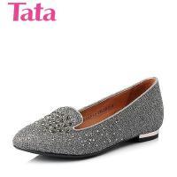 Tata/他她年专柜同款亮片布浅口女单鞋2XFA3CQ5