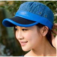 平顶帽子  春季夏天牛仔时尚户外休闲帽 女士韩版潮