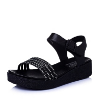 Teenmix/天美意夏季专柜同款-牛皮革女皮凉鞋6ZA09BL6