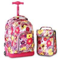 美国杰华德J world男女中小学生儿童双肩背包 减负拉杆书包旅行箱