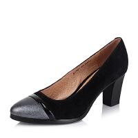 BATA/拔佳专柜同款羊绒皮革女鞋AL801CQ5