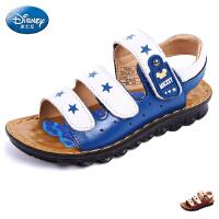 迪士尼童鞋男童凉鞋儿童沙滩鞋2016春夏男中大童魔术贴休闲鞋子