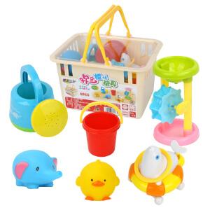 橙爱比爱 欢乐戏水7件套 宝宝沐浴洗澡戏水玩具 沙滩玩具 嬉水捏捏叫玩具