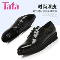 Tata/他她专柜同款牛皮女单鞋U3068CM6