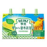 【当当自营】亨氏 Heinz婴幼儿营养蔬菜泥-优选菜园 1段(辅食添加初期-36个月)72g*3/袋 宝宝辅食
