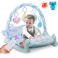 米宝兔 婴儿健身架玩具婴儿摇铃挂件爬行垫脚踏钢琴玩具0-1岁