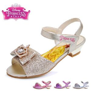 迪士尼凉鞋儿童鞋迪士尼童鞋2016春女童鞋公主鞋浅口单鞋学生女鞋魔术贴