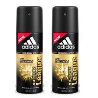 adidas阿迪达斯男士香体止汗喷雾150ml2支套装(原装进口版) 征服