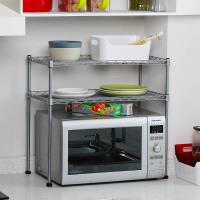 【可货到付款】欧润哲 厨房用品可调竹节管微波炉架子置物架 多功能烤箱柜双层架