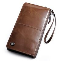 波斯丹顿手包男真皮大容量手拿包男士软皮长款薄钱包韩版牛皮男包B2161011