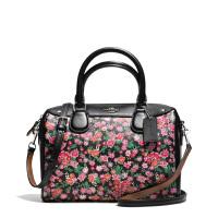【当当自营】蔻驰(COACH)时尚女士花卉图案涂层帆布波士顿女包手提包斜挎包  F57882