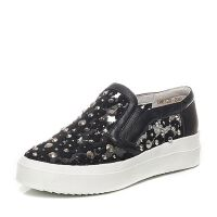 Teenmix/天美意春季专柜同款蕾丝网布/羊皮女鞋AM61TAQ6
