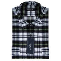 YOUNGOR雅戈尔翠绿条全棉绒格布修身版长袖衬衫RM14163-52Y