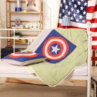美国队长多功能棉麻抱枕夏凉被 折叠两用汽车办公室靠垫空调被子