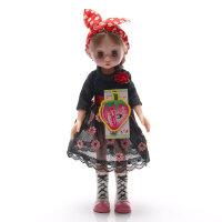 安娜公主 会闭眼的芭比娃娃玩具套装 礼盒洋娃娃女孩礼物35厘米