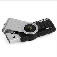 Kingston/金士顿 DT101 G2 16G 优盘金属旋转创意u盘 黑色 USB2.0