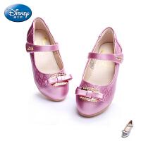 迪士尼公主鞋2017新款春秋女童鞋中小童鞋学生鞋女童单鞋儿童皮鞋DS1962