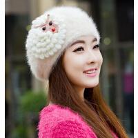 秋冬季帽子韩国时尚可爱兔毛帽冬帽  女士帽子韩版冬天帽子