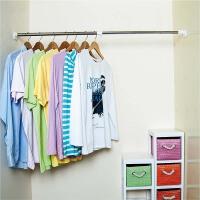 宝优妮 浴室浴帘杆 伸缩晾衣杆撑杆窗帘杆浴杆门帘杆免打孔送浴帘