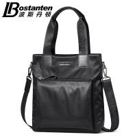 (可礼品卡支付)波斯丹顿2017新款男包竖款商务休闲手提包帆布包单肩斜挎包公文包B1164092