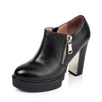 Tata/他她专柜同款小牛皮女单鞋2KT20CM5