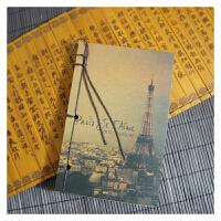 巴黎铁塔岁月坊原创牛皮纸封面线装手工本复古迷你笔记本便携小本