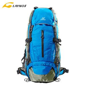 laynos雷诺斯户外登山包65L男女双减徒步包大容量背包旅行运动新