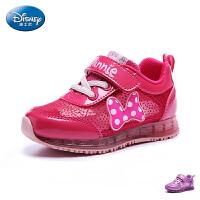 迪士尼Disney2017春夏款运动鞋小中童童鞋女童闪灯童鞋品牌童鞋女童运动鞋 DS2222