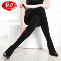 【2条装】浪莎丝袜380D升级版中厚缎面绒薄款连裤袜春秋瘦腿打底袜子女
