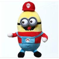 神偷奶爸2 卑鄙的我 3D眼睛小黄人公仔 乔巴系列毛绒玩具