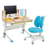 【新品上市】2平米骑士枫桦实木儿童学习桌椅套装 手摇升降 魔方大书架