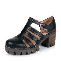 Teenmix/天美意春专柜同款牛皮女凉鞋6E830AK6