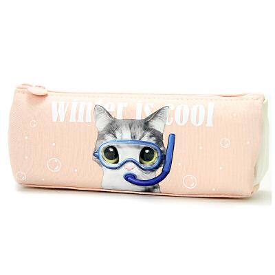 元气猫卡通可爱韩国小猫咪笔袋女孩学生大容量铅笔袋