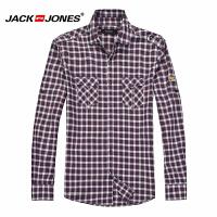 杰克琼斯秋季男士时尚休闲小格子百搭长袖衬衫16-3-1-213105061070