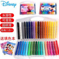 迪士尼炫彩棒儿童绘画套装水溶性油画棒画笔12色36色24色水彩笔套装