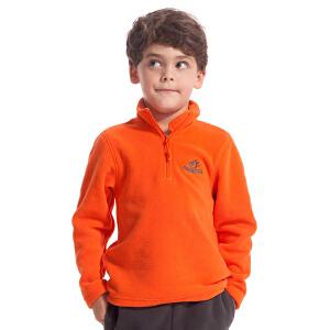 TECTOP 儿童款户外套头软壳抓绒衣 防风保暖