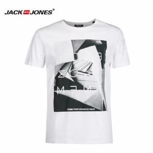 杰克琼斯/JackJones时尚百搭新款T恤 字母-2-5-10-216301503023