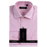 YOUNGOR雅戈尔DP全棉免烫粉色细格长袖衬衫DP14329-43