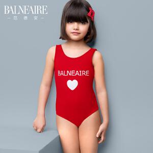 范德安可爱防晒儿童泳衣 女孩大中童宝宝连体游泳衣沙滩女童泳装