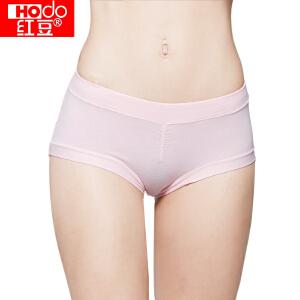 红豆女士内裤4条棉氨纯色中腰收腹三角裤 四色一组