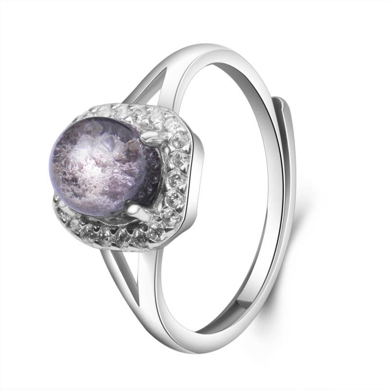 梦克拉s925银镶嵌发晶戒指 享爱 创意礼品